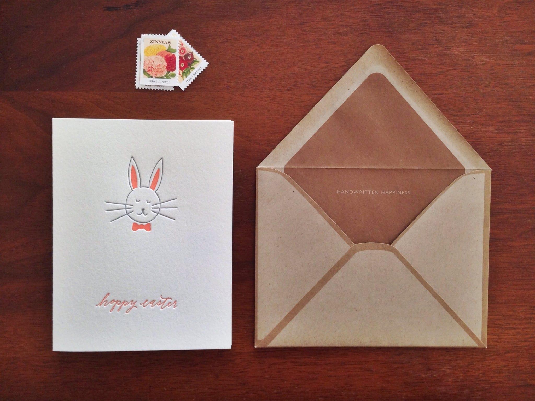 IMP-4003 - Hoppy Easter Letterpress Card | INK MEETS PAPER