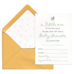 A Little One Fill-in Invitation