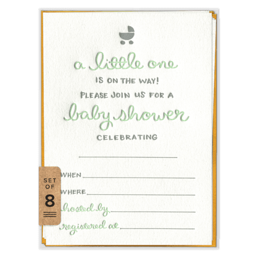 A Little One Fill-in Invitation Set (front)