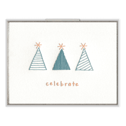 Celebrate Letterpress Greeting Card
