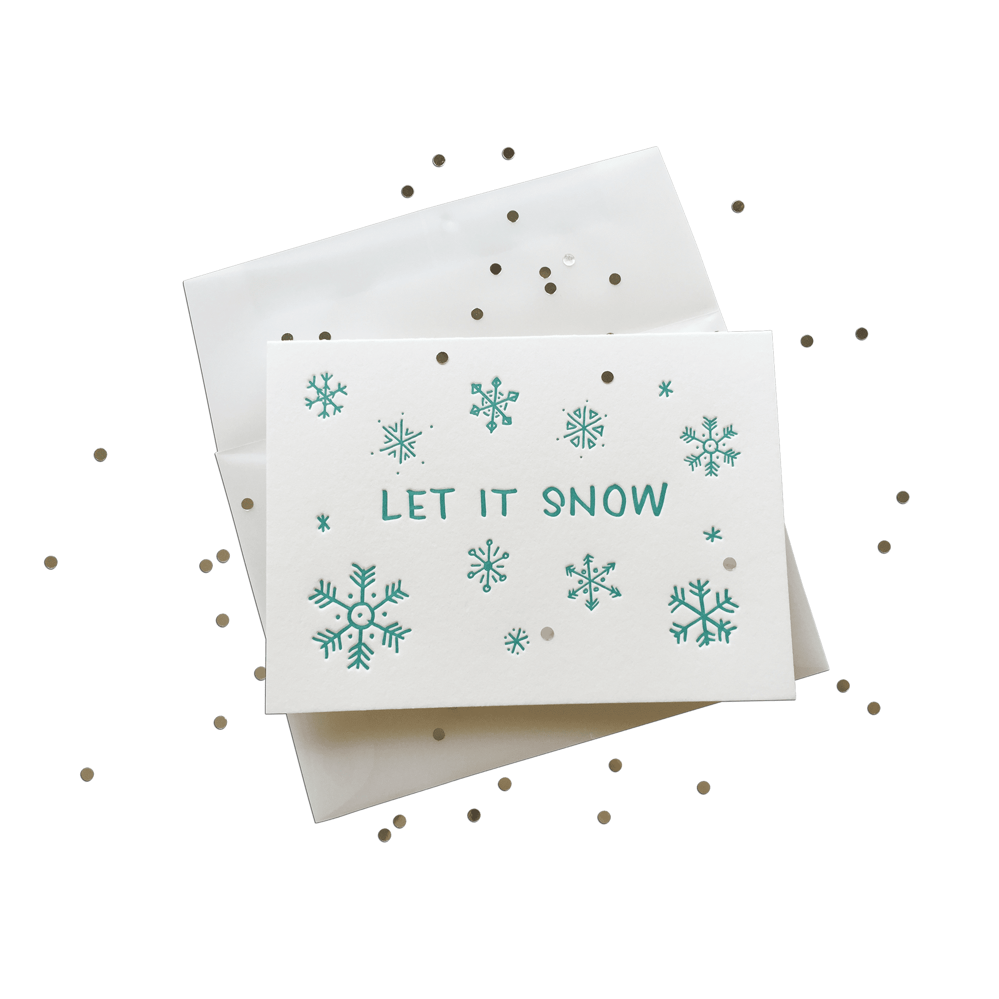 Confetti Let it Snow Splash