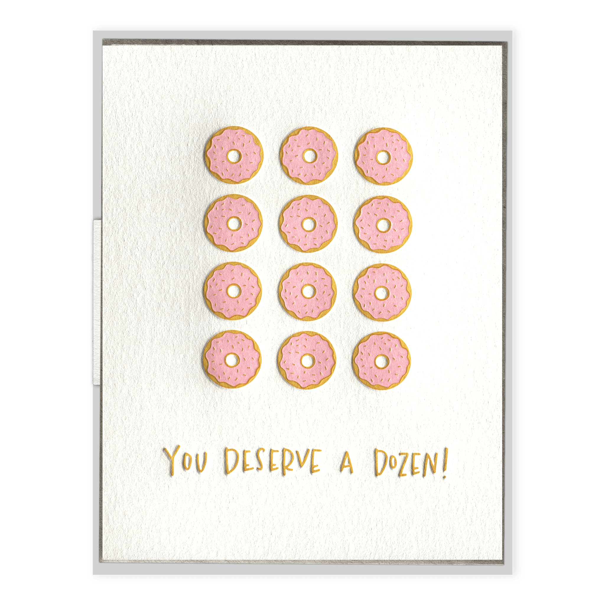 Donuts Letterpress Greeting Card