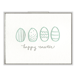 Easter Eggs Letterpress Greeting Card