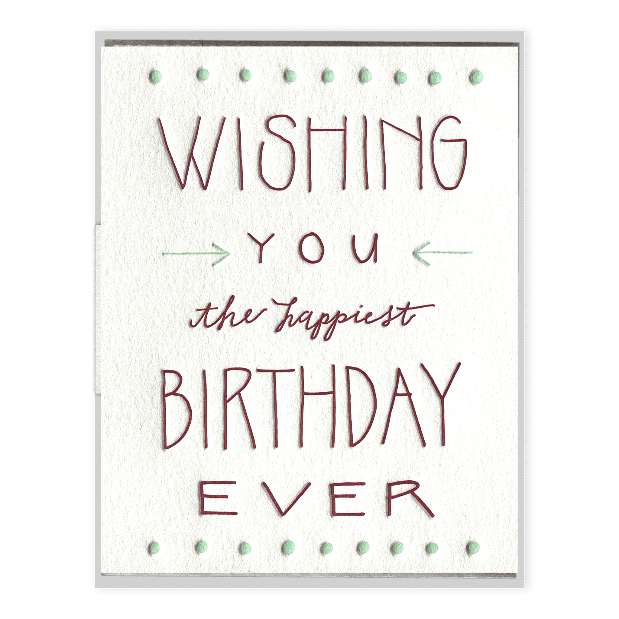Happiest Birthday Ever Letterpress Greeting Card