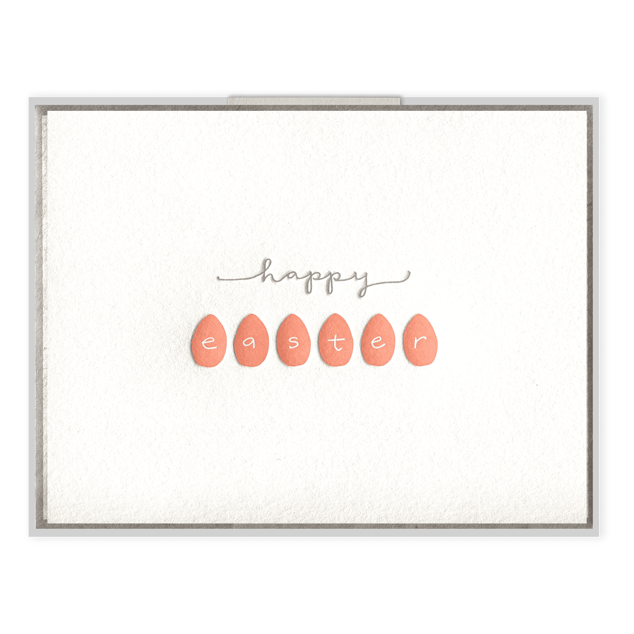 Happy Easter Letterpress Greeting Card