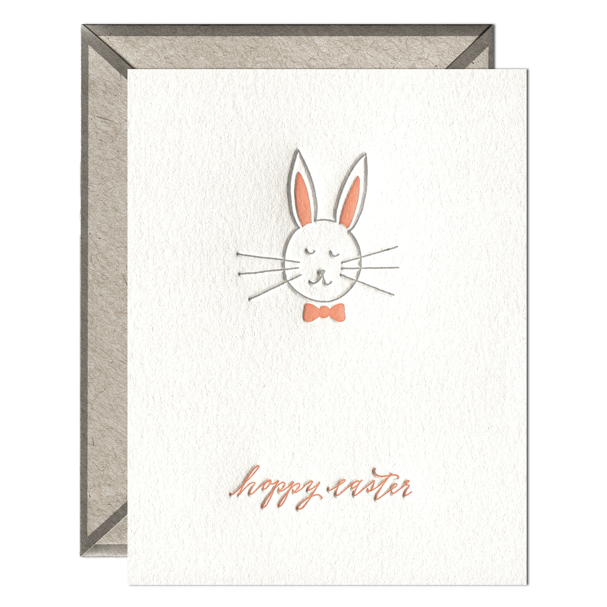 Hoppy Easter Letterpress Greeting Card with Envelope