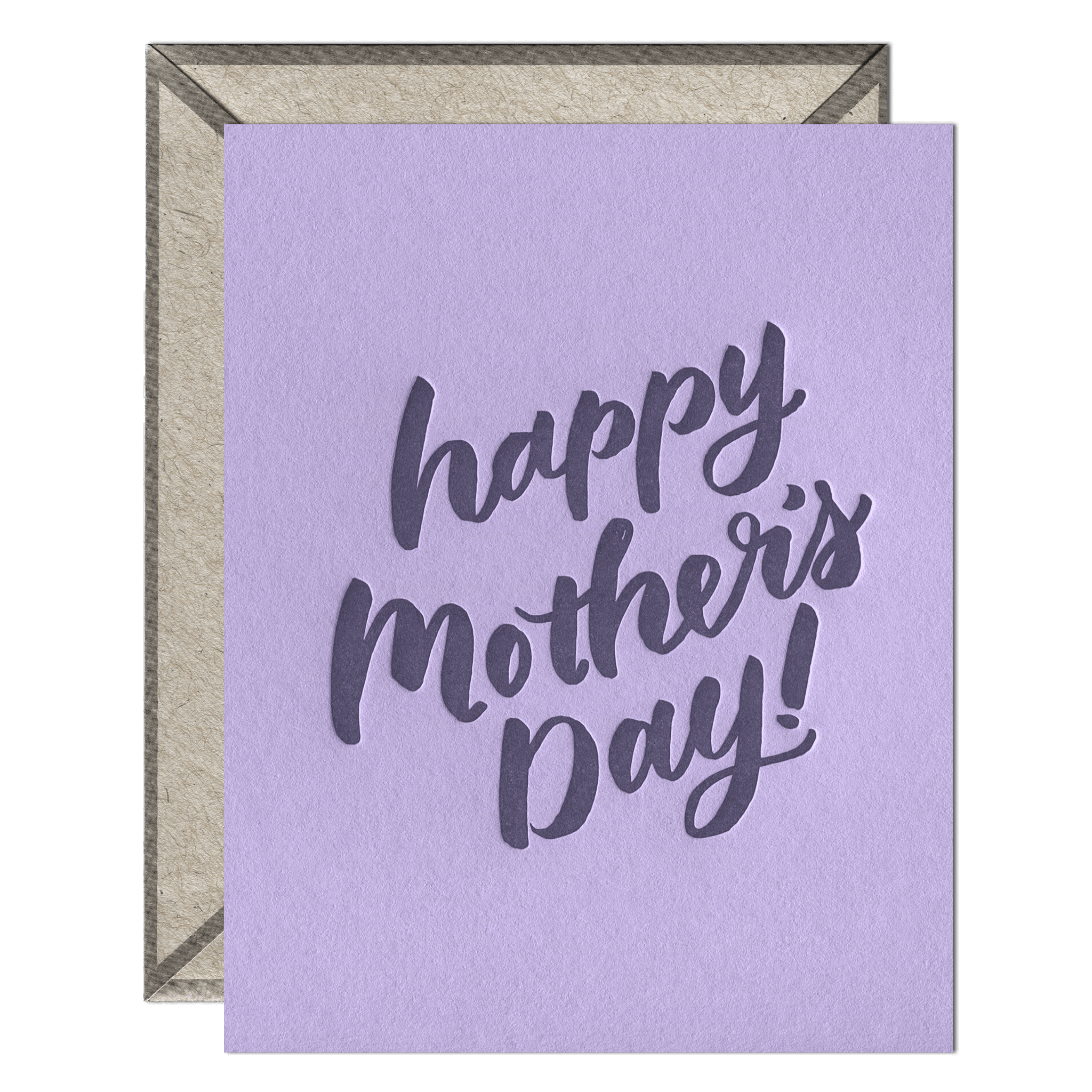 Mother's Day Script Letterpress Greeting Card with Envelope