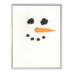 Snowman Letterpress Greeting Card