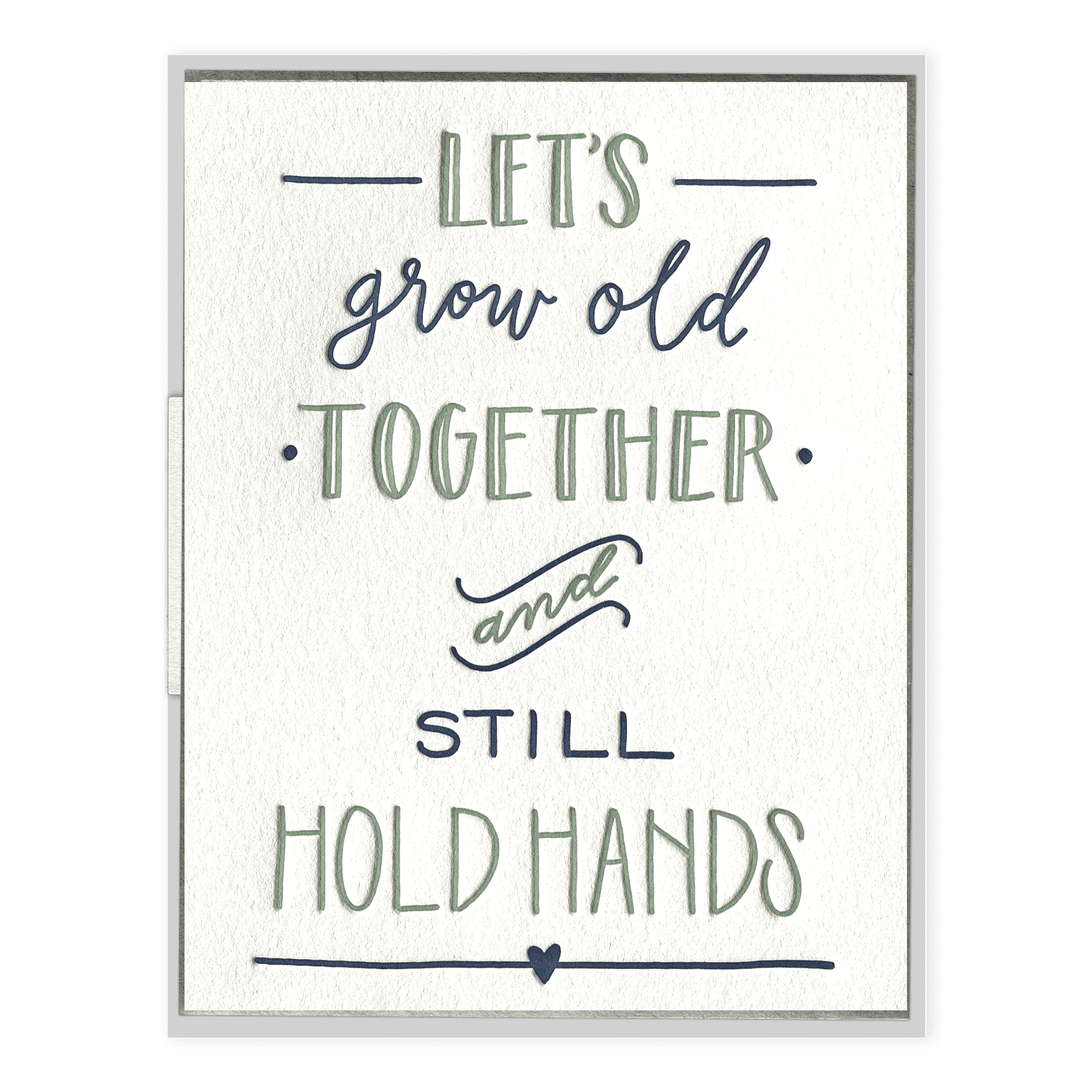 Still Hold Hands Letterpress Greeting Card