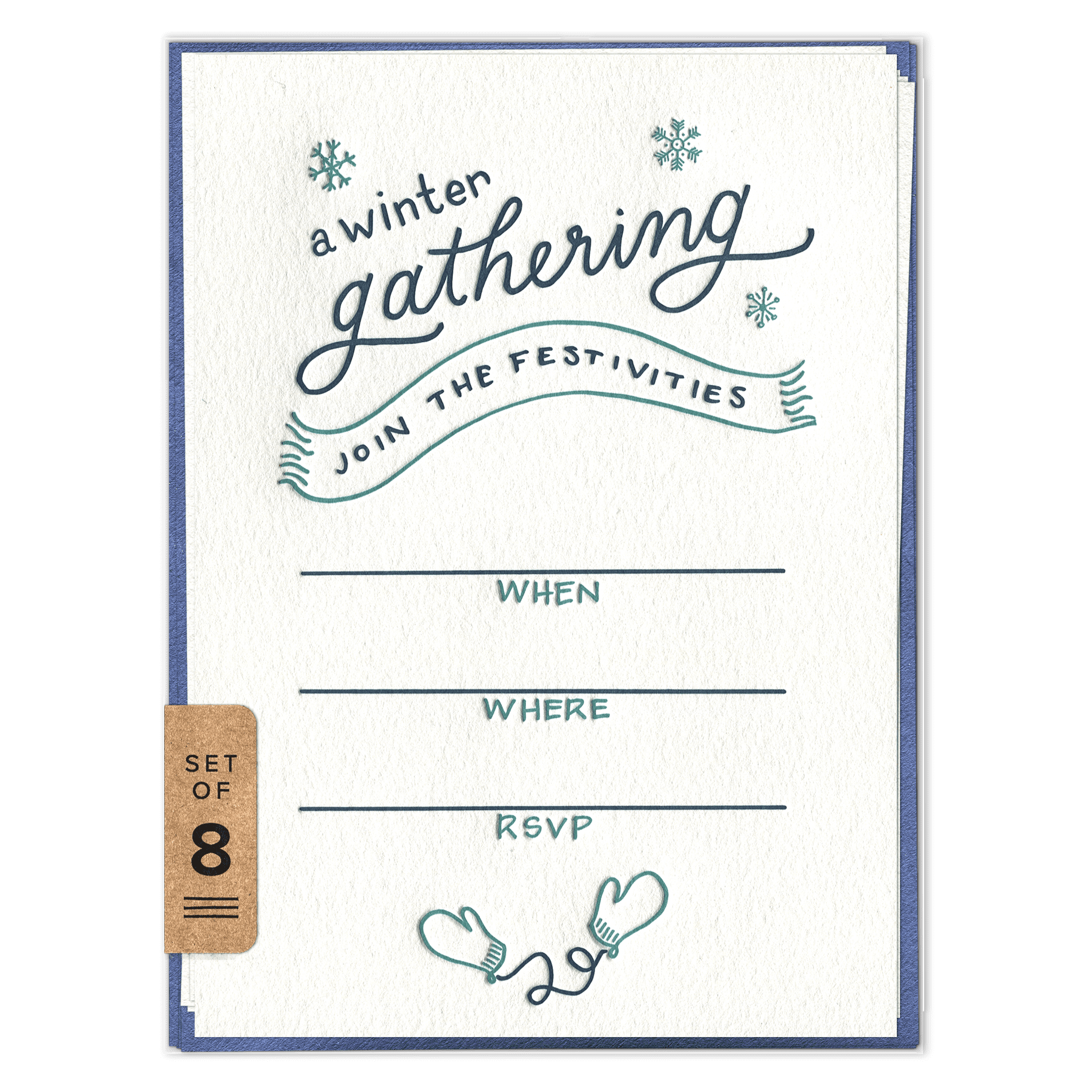 Winter Gathering Fill-in Invitation Set (front)