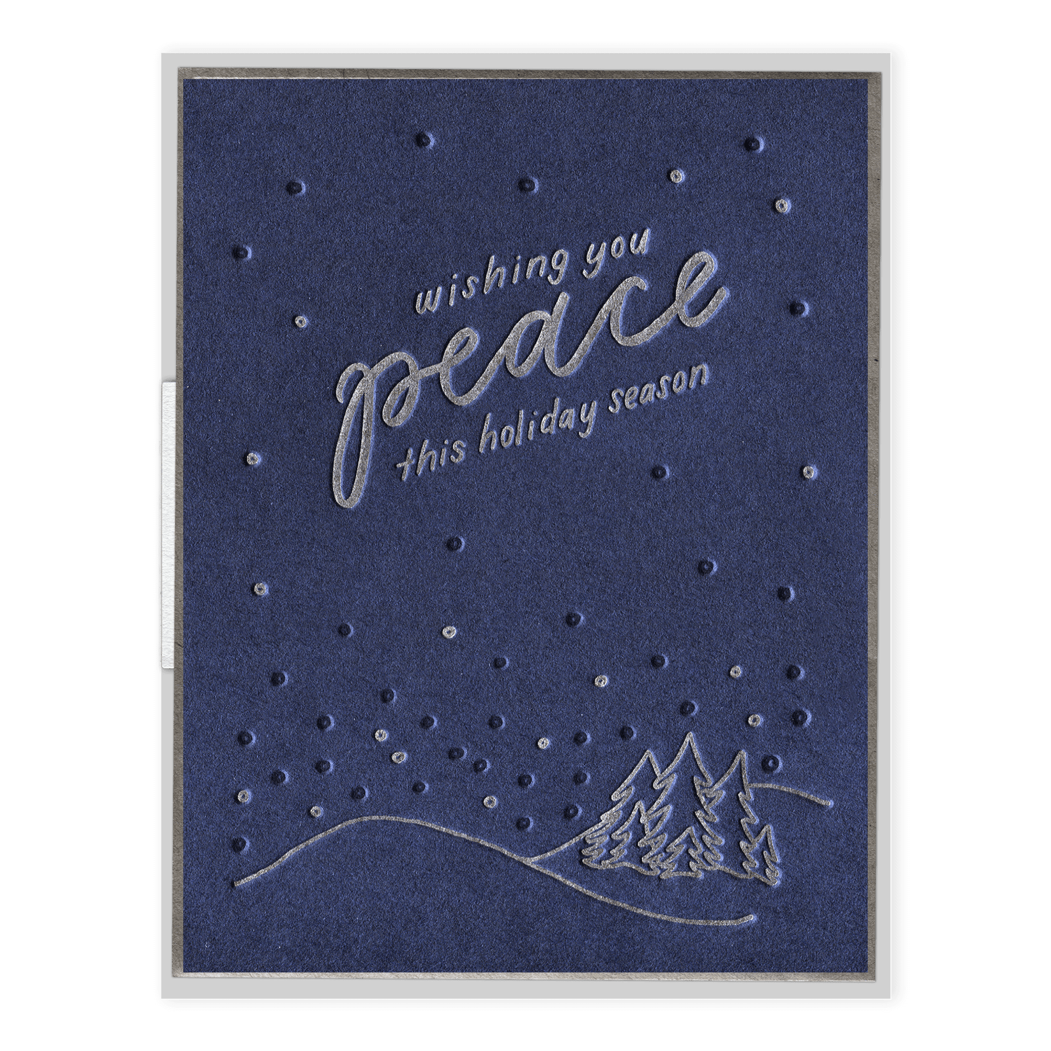 Wishing You Peace Letterpress Greeting Card