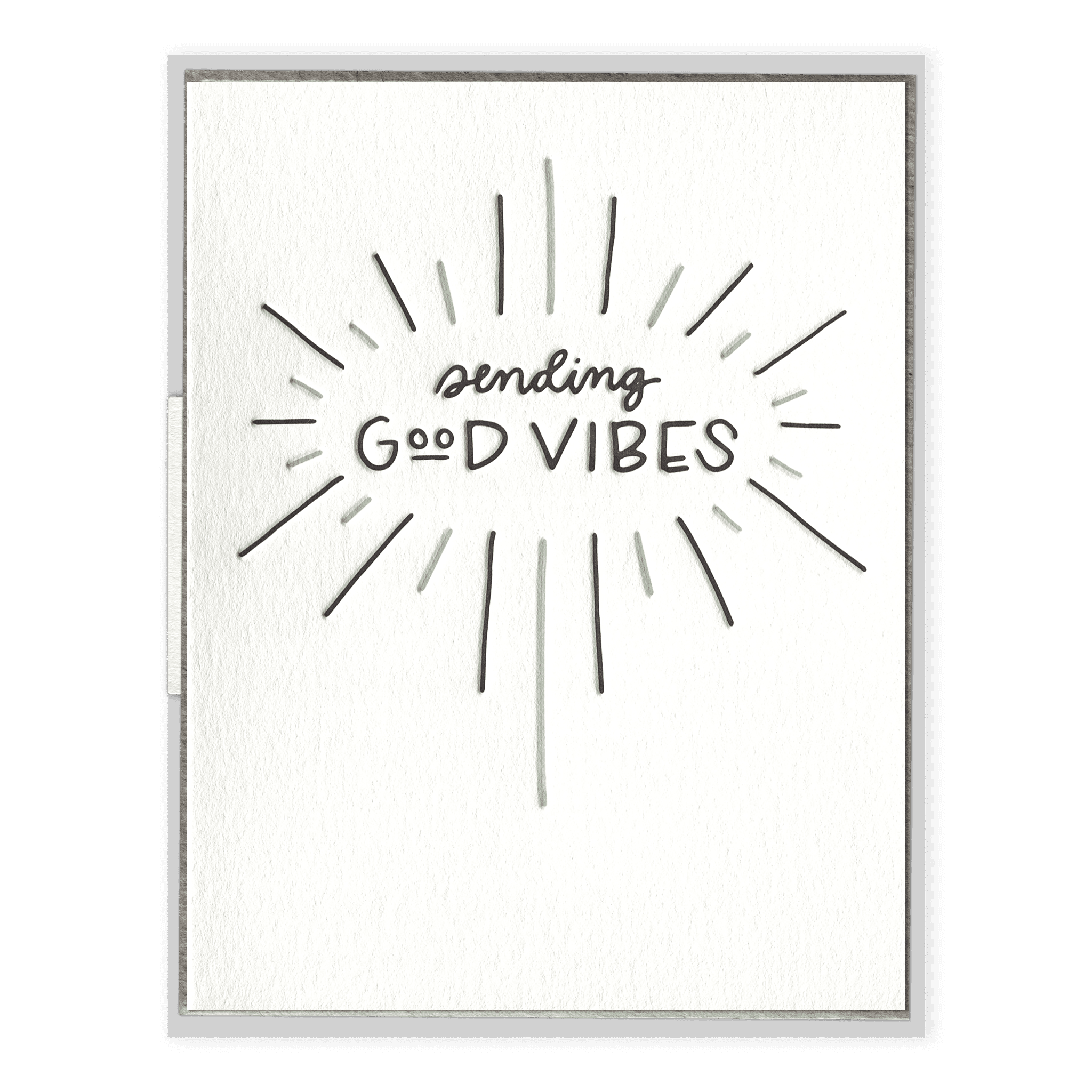 Sending Good Vibes Letterpress Greeting Card