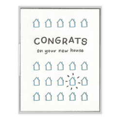 New House Congrats Letterpress Greeting Card
