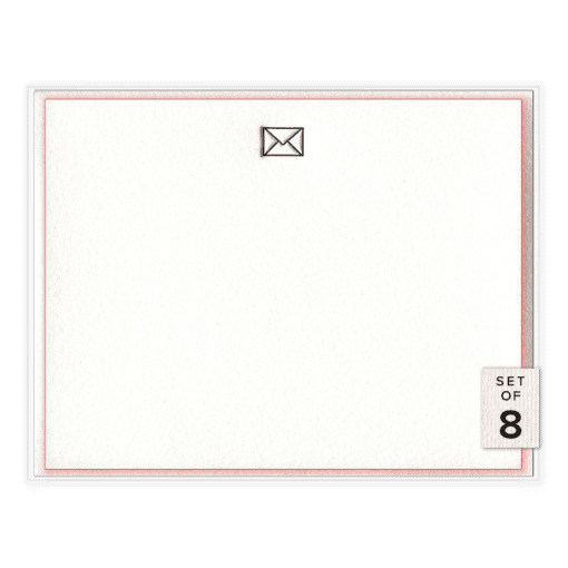 Snail Mail Letterpress Social Stationery Boxed Set of Eight Front View