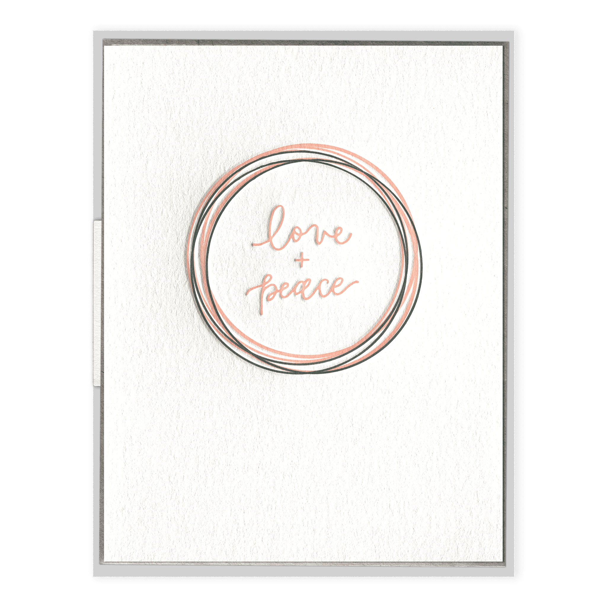 Love + Peace Letterpress Greeting Card