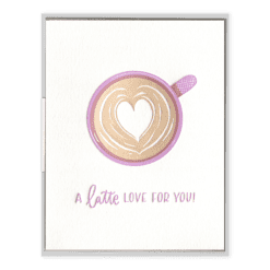 Latte Love Letterpress Greeting Card