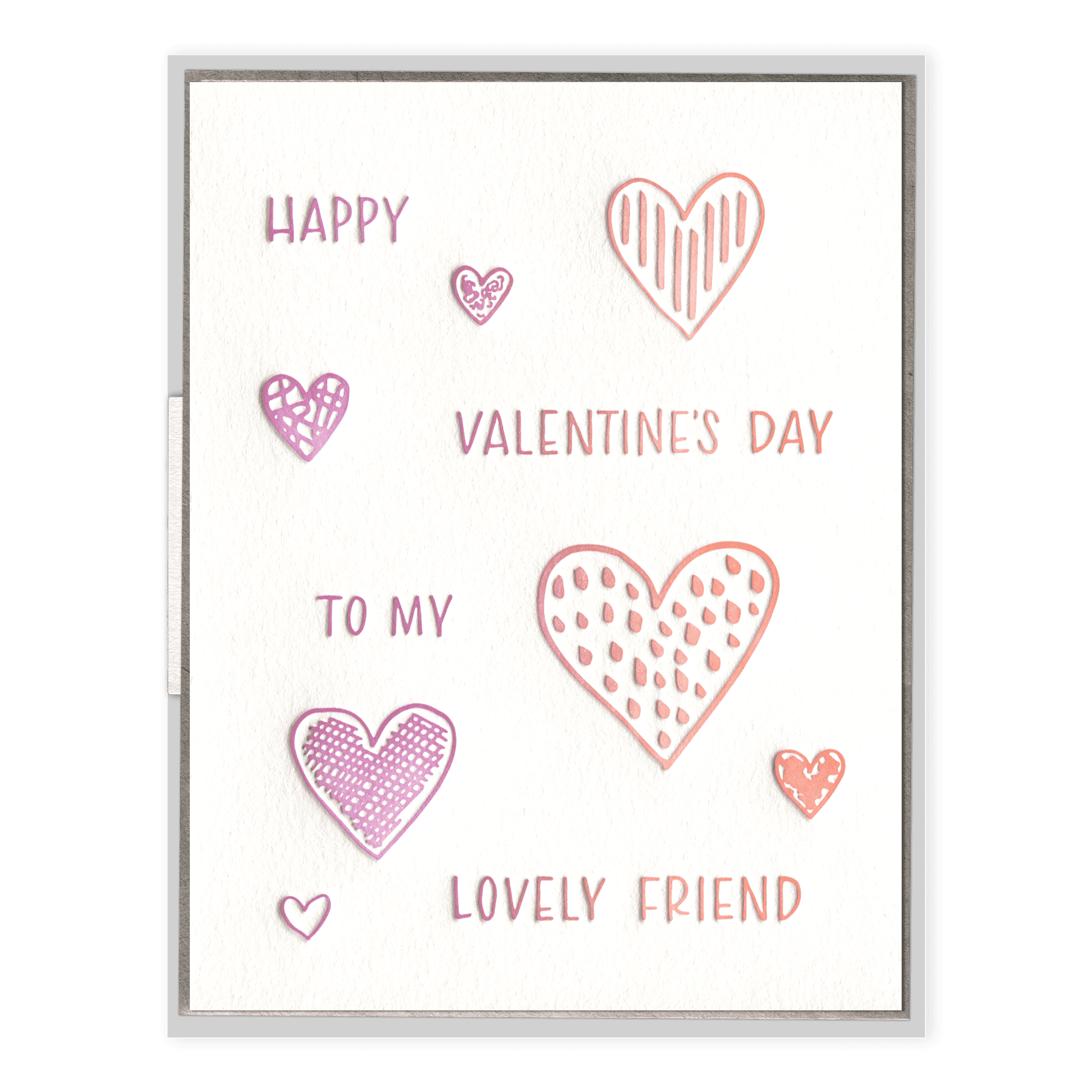 Valentine Friend Letterpress Greeting Card