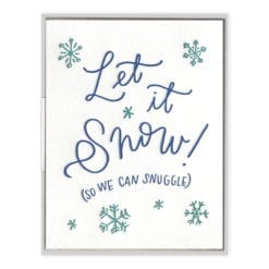 Snow Snuggle Letterpress Greeting Card
