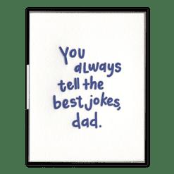 Dad Jokes Letterpress Greeting Card