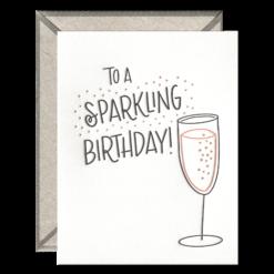 Sparkling Birthday Letterpress Greeting Card with Envelope