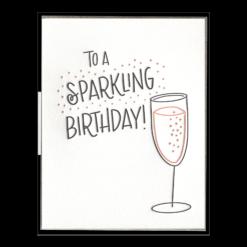 Sparkling Birthday Letterpress Greeting Card